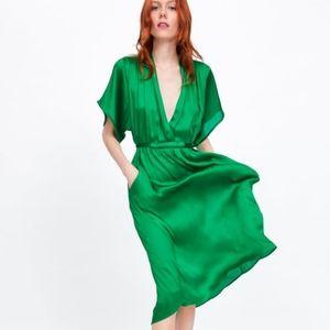 NWT, ZARA Satin Dress